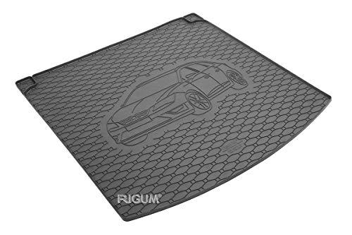 RIGUM Passgenaue Kofferraumwanne geeignet für SEAT Leon ST ab 2014 + Autoschoner MONTEUR