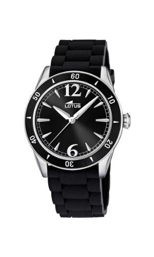 Lotus 15796/3 - Reloj analógico de Cuarzo para Mujer con Correa de Caucho, Color Negro