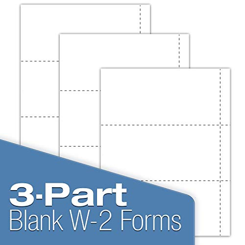 W-2 Blank 3-up Tax Forms 2019 - Tangibles Values Perforated Small Business Filing Kit with Envelopes - Accounting Software Compatible, 50 Pack Photo #4