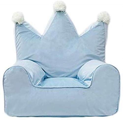 Liegesofa LHY- Kid Faule Bean Bag Sofa Kinder Niedlich Schlafzimmer Nordic Start Velvet Freizeit Sitz Abnehmbarer waschbarer Sitzsack Weich (Color : Blue)