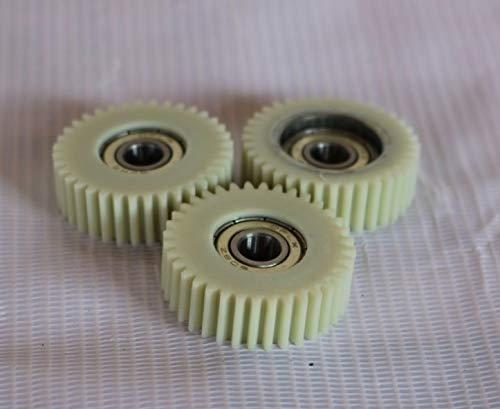 FJJ-LIANTIAO, Diámetro: 36,5 mm Espesor 27Teeths-: 10 mm Engranaje eléctrico del vehículo con el cojinete del Motor del Engranaje de Nylon - innder D: 8mm