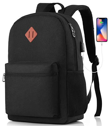 MARYARM Backpack for men and women, school backpack, boys and girls, teenagers backpack, school for study, work, travel, USB charging port with RFID protection.