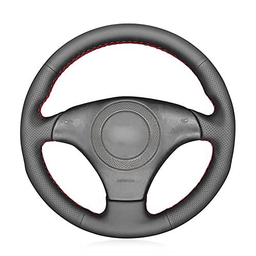 HSHKONG Cubierta de Volante de Cuero PU Negra Cosida a Mano, Antideslizante Transpirable, Accesorios de decoración de automóviles, para Audi S8 (D2) Saloon 1998-2000