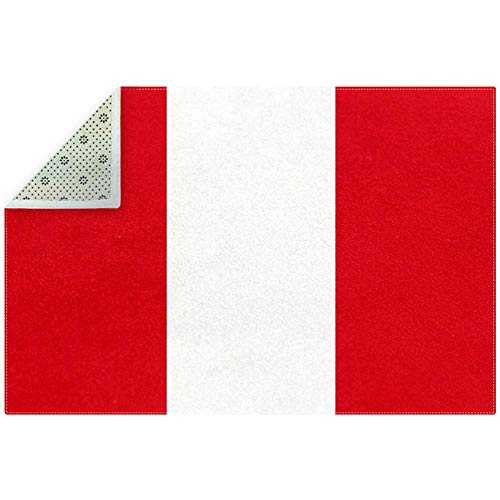 Bennigiry Teppich mit weicher Flagge von Peru, rutschfest, für Wohnzimmer, Schlafzimmer, Spielzimmer, 180,3 x 119,4 cm, Polyester, multi, 200x150cm/79x59in