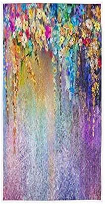Abstract Floral Watercolor Painting Limited Special Price Towels Absorbent Ultra Excellent Hand