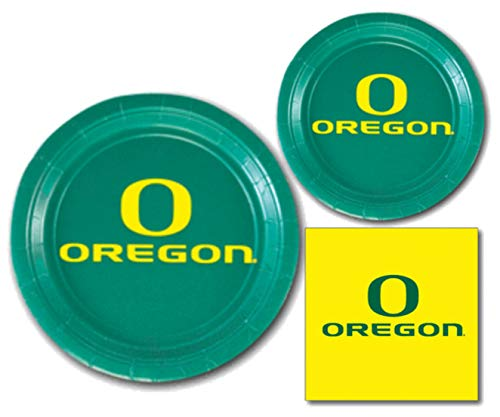 Oregon Ducks Party Supplies Themed Paper Plates and Napkins Serves 10 Guests
