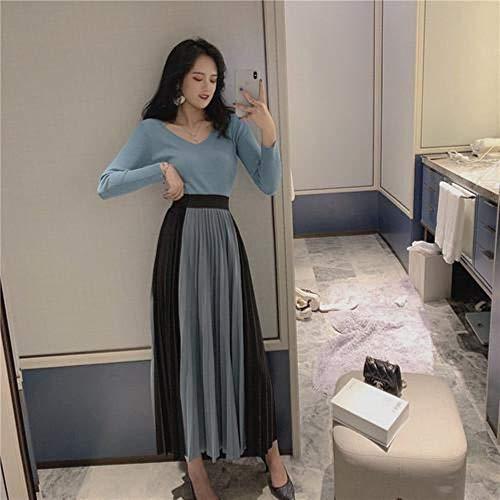Pun 4 Kleur met De Herfst Vrouwen Rok Hoge Taille Kleur Bijpassende Plissé Rok Vrouwelijke