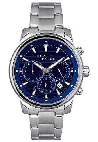 BREIL - Reloj para Hombre Redondo con Esfera Monocolor y Caja de Acero Colección Calibre