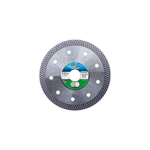 Extra dünne Diamant-Trennscheibe   Ø 125 mm x 22,2 mm x 1,2 mm- Fliesen/extra hartes Feinsteinzeug/harte Granite/Keramik   Segmenthöhe: 10 mm