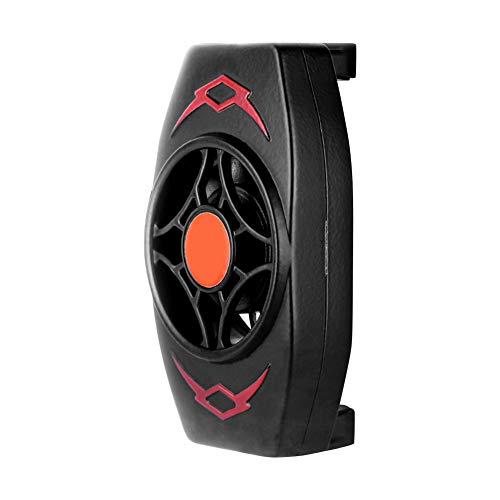 Sahoga Enfriador de teléfono, radiador de teléfono móvil, Ventilador de enfriamiento de teléfono portátil Ajustable Ventilador Turbo de Alta Velocidad Compatible con teléfono Inteligente Universal