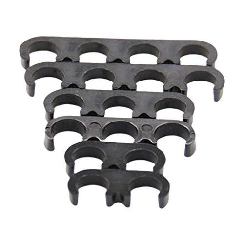 Shiwaki 6er Pack Zündkabel Separatoren Halter Zündkerze Draht Separatoren für Chevy Ford (Schwarz)