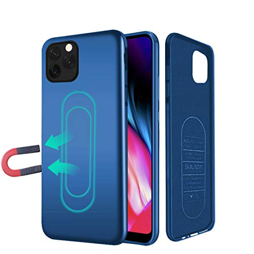 Case for iPhone XR,Ultra Thin Magnetic Phone Case for Magnet Car Phone Holder with Invisible Built-in Metal Plate,Soft TPU Shockproof Anti-Scratch Protective Cover for iPhone XR(2018) 6.1''[Blue]