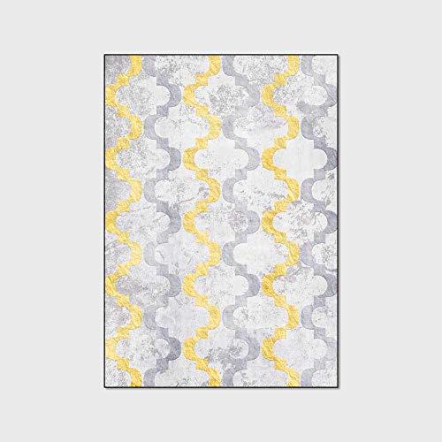 Moderne tapijt karpetten Geometrische gouden grijze vloermat Waterdicht en antislip tapijt Baby Speelkleed Kids Play Tent voor woonkamer slaapkamer keuken,80x120cm(31x47inch)