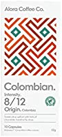 Alora Coffee Co, 6 packs of 10 Nespresso Compatible pods (60 pods total), Colombian