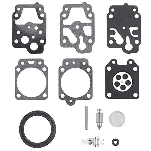 uxcell K20-WYJ Carburetor Rebuild Kit Gasket Diaphragm for Walbro K10-WYB K20-WYJ D20-WYJ Echo Homelite Engines Carb 2pcs