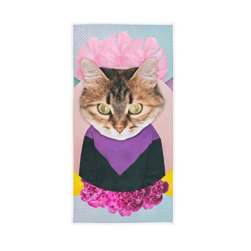 Mr.XZY Toallas de baño 100% algodón de secado rápido suave para hombre mujer hogar cocina natación spa gimnasio 76,2 x 38,1 cm gato monopatín juguete 2010249