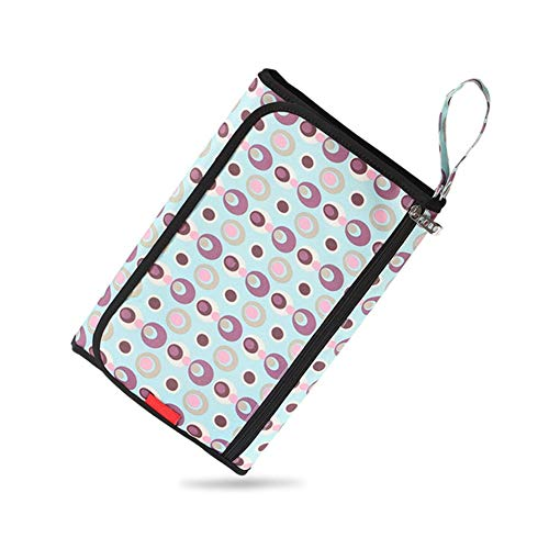 ZHANGXJ Pañal Cambiador Portátil de Pañales para Bebé Impermeable Kits para Cambio de Pañales Multifuncional Plegables Esterilla Bolsa de Pañales para Viajar a Casa Bolsillo (Color : C)