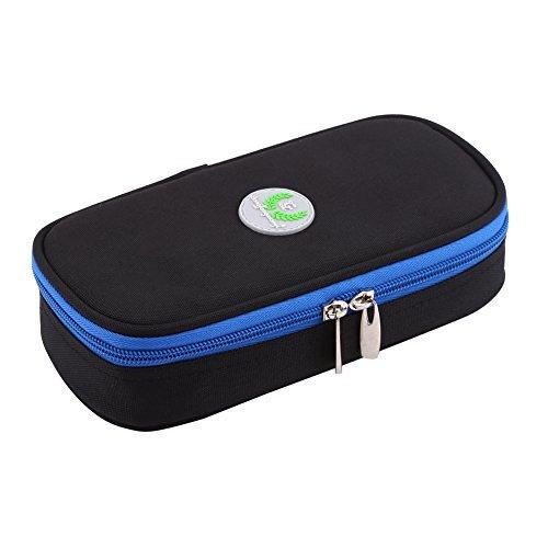 Bolso de Refrigerador Bolso de Conservar de Calor Bolso Fresco Portátil para Atención Médica Bolso de Diabético para Viajar (Negro )