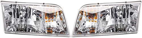 Evan-Fischer Headlight Set Compatible with 1998-2011 Ford Crown Victoria Left...