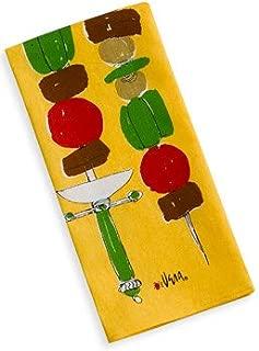 Vera Neumann Ladybug Kitchen Tea Towel, Shish Kabob Yellow