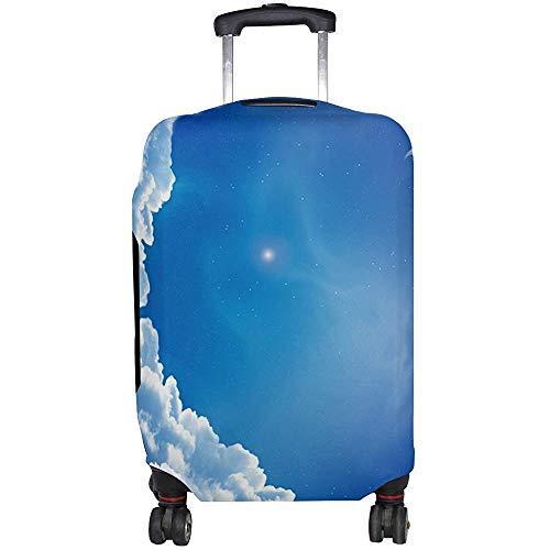 Nature Moon Blue Sky Equipaje Protector de Maleta para Hombres Mujeres Talla M