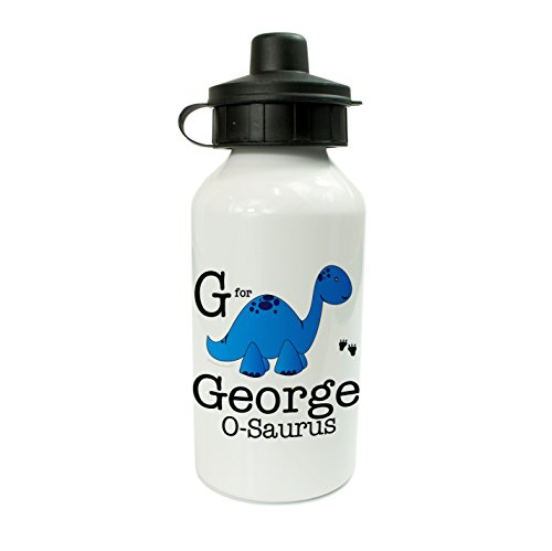 The Supreme Gift Company Personalised Kids Drinks Water Bottle Blue Dinosaur (personalised with ANY Name) (400ml)