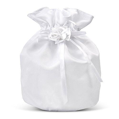Brautbeutel Braut-Tasche Brauttäschchen Satin Weiss Hochzeit. Von Haus der Herzen ®