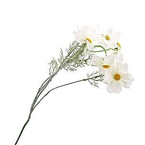 Silk Flower Arrangements Artificial and Dried Flower Artificial Cosmos Flowers Fake Cloth Hand Flower Simulation Plastic Flower Decoration for Home Wedding Living Room - ( Color: White )