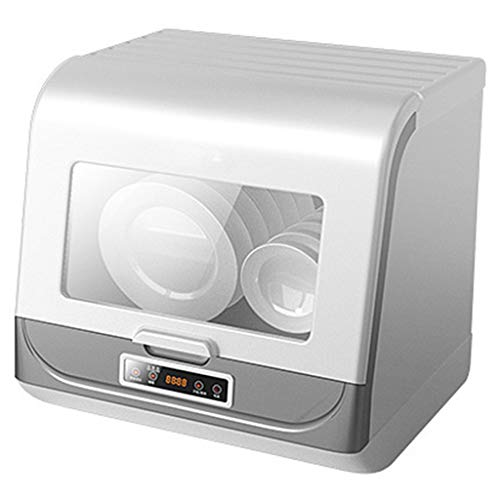 OCYE Tragbarer Geschirrspüler,Mini-Großkapazität,70 ° C Hochtemperatur,Arbeitsplatte Geschirrspüler für Wohnküche,Wohnwagen,Büro-Weiß