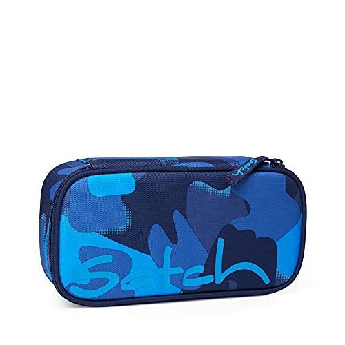 satch Schlamperbox - Mäppchen groß, Trennfach, Geodreieck - Troublemaker - Blau