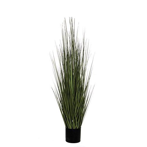 Decorazioni Mica Erba in Vaso pianta Artificiale, PVC, Verde, h 122 d 35 cm