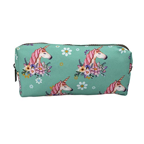 LParkin Cute Unicorn Large Capacity Canvas Pencil Case for Girls Gadget Pen Bag Pouch Student Stationary Case Makeup Cosmetic Bag Kawaii Box (Unicorn)