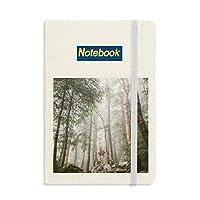 霧の林業科学は自然の風景 ノートブッククラシックジャーナル日記A 5