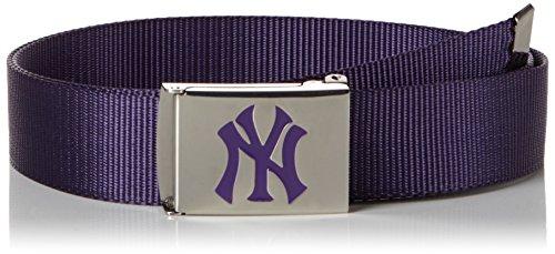 MSTRDS MLB Premium Woven Belt Single, Ceinture Mixte, Violett (Purple 3920), 100 cm (Herstellergröße: One size)