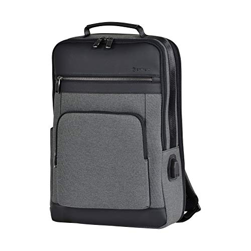 Eminent Laptop Backpack Urban Elite 15 Inch 26L USB Charging Port Anti-Theft Lightweight Large Expandable Daypack for Business, Work, Travel, Outdoor for Men, Women, College Students, Rucksack Grey