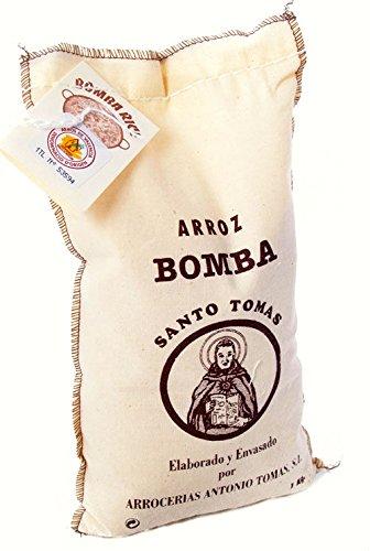arroce rías Antonio Tomas Arroz bomba Santo do Paella riso, 1er Pack (1x 1kg)