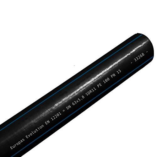 PE 100 PN16 Trinkwasserrohr 20 mm 1/2