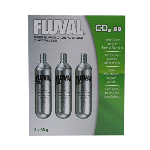 Fluval Recambio para Sistema Presurizado de CO2 88 - Paquete de 3 Unidades x 80 gr - Total: 240 gr