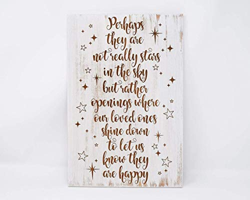 Perhaps They Are Not Really Stars In The Sky 8x12, 10x15, 15x22, 20x30, 24x36 Engraved Wood Sign