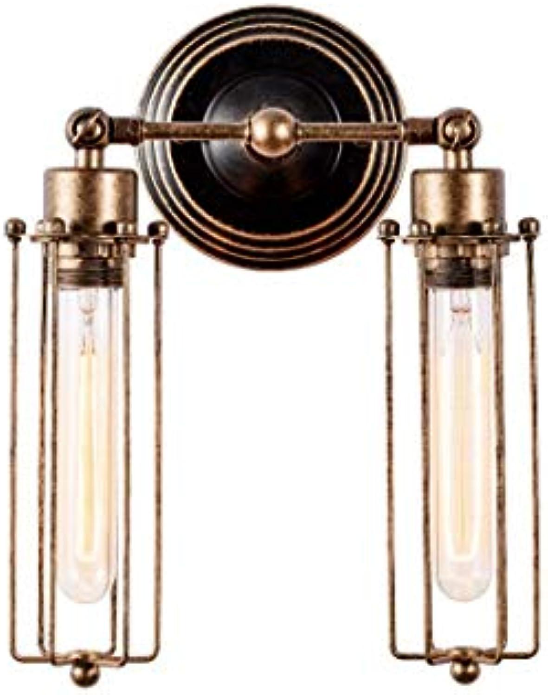 CCLAY Vintage Wand Glühbirnen Industrial Style Beleuchtung Verstellbarer Draht Metallkfig Wandleuchte Indoor Home Retro Leuchten (l eingerieben Bronze),Bronze
