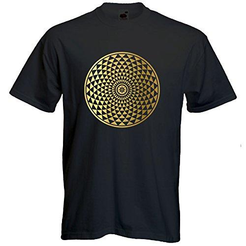 Mandala Tshirt Spiritual Sacred Geometry tee Yoga Festival Beachwear Tee Gift Mens Short...
