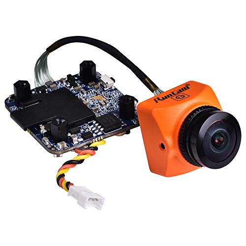 RunCam Split 3 Micro FPV Camera FOV 165 Degree DC 5-20V M12 Lens 1080P HD Recording WDR NTSC PAL Switchable for FPV Racing Drone, Orange