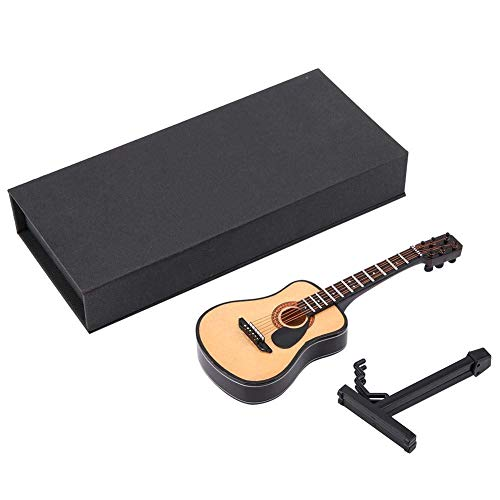Miniature Wooden Guitar Model Do...