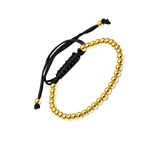 LA FALCONI Jewellery Pulsera de Bolas Roma en Oro, Pulsera Noble para Hombres y Mujeres, Pulsera de Bolas Unisex