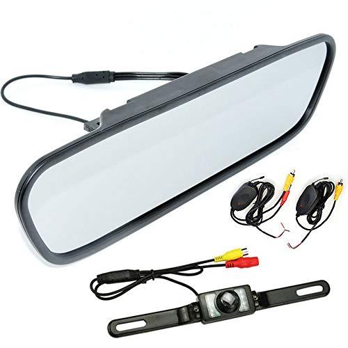 Boomboost - 5 Pouces Caméra de recul à 7 LED de Marque Longue rétroviseur + émetteur sans Fil avec Interface AVIN et GPS