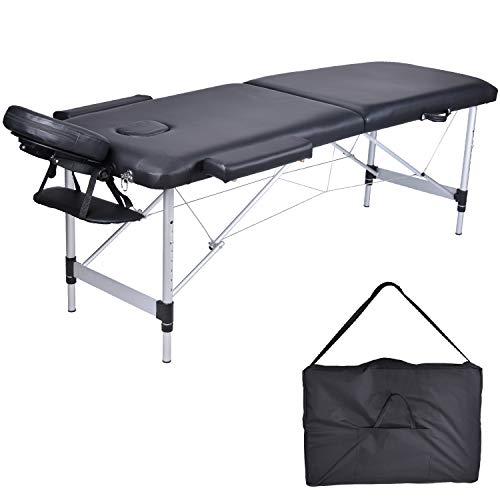 MC Dear Table de Massage Aluminium 2 Zones Professionnelle Lit de...