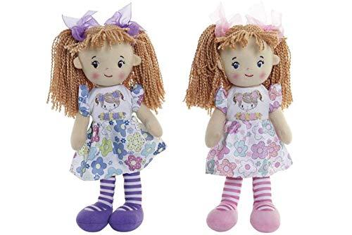 SMG® Muñecas de Peluche Muñecas Trapo Bebe de Encantador Dulce Niña, Regalos de los Niños 30 CMS (Rosa)