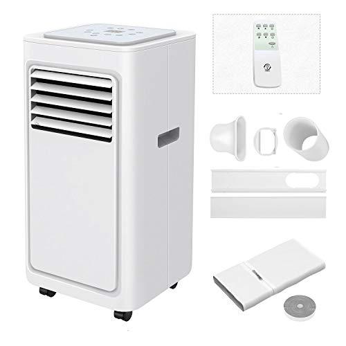 Famgizmo Klimaanlage Mobil, 7000 BTU Klimaanlage mit Luftkühler, Luftentfeuchter, Lüfter, Schlafmodus, 24H Timer, Fernbedienung, Klima mit Abluftschlauch und Fensterabdichtung, R290, Energieklasse A