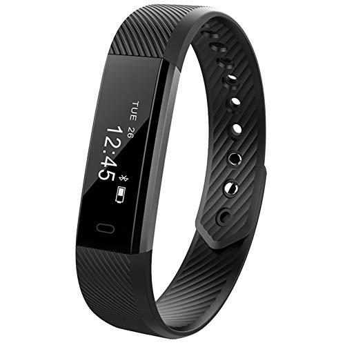 Pulsera inteligente BYECHOW Pulsera de actividad deportiva impermeable con podómetro calorías monitor de sueño, contador de mensajes para hombres, mujeres y niños