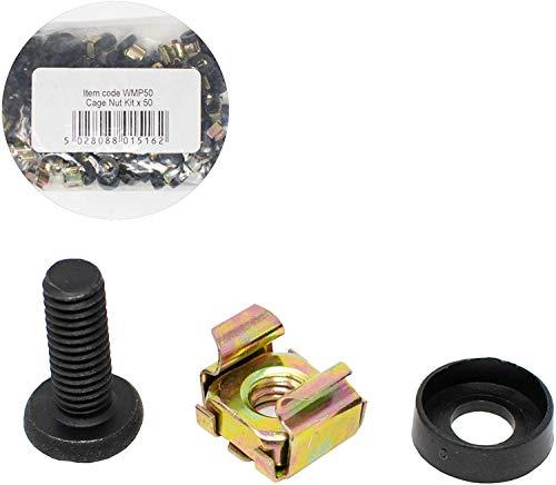 Aptus Rek Montage Set van 50 stuks elk van Bout Moer & Wasmachines (Totaal 150st) Poeder Coated